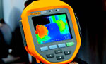 Fluke PTi120 Thermal Imager capturing a thermal image