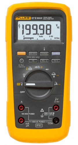 Fluke 87V-MAX True RMS Digital Multimeter with built-in thermometer-
