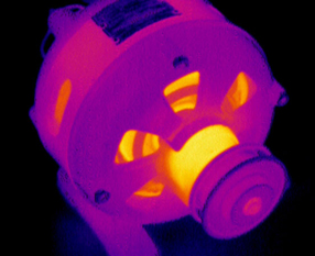 Thermal image of machinery